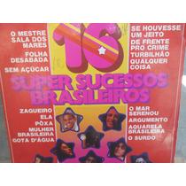 Disco Vinil 16 Super Sucessos Brasileiros