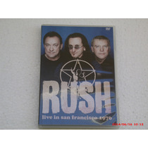 Rush - Live In San Francisco 1976 - Dvd (semi Novo)