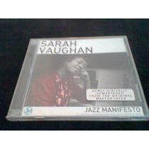 Sarah Vaughan Jazz Manifesto Duplo Remaster Lacrado Fabrica