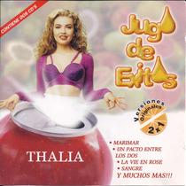 2 Cds Thalia Jugo De Éxitos (importado/raro) Love Marimar