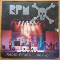 Rpm Lp Nacional Usado Rádio Pirata Ao Vivo 1986 Encarte