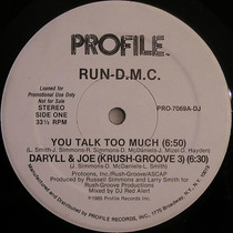 Run Dmc 12 Single Promo You Talk Too Much