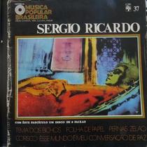 Lp Sergio Ricardo - Música Popular Brasileira Vinil Raro