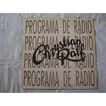 Chrystian E Ralf-lp-vinil-programa De Radio-crystian-cristia