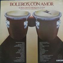 Lp 42 Boleros Inesquecíveis - Boleros, Con Amor Vinil Raro