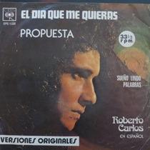 Roberto Carlos En Español - El Dia Que Compacto Vinil Raro
