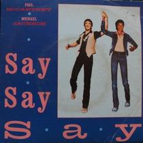 Paul Mccartney & Michael Jackson - Say S Compacto Vinil Raro