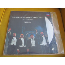 Laser Disc Carreras Domingo Pavarotti In Concert Mehta