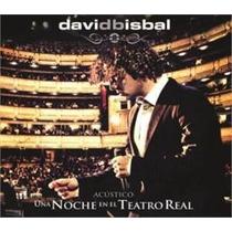 Cd+dvd- Una Noche En El Teatro Real Acústico -david Bisbal