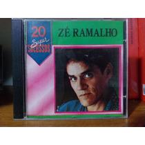 Cd Zé Ramalho, 20 Super Sucessos! Como Novo!