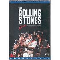 Rolling Stones Live At Coliseum Stadium Dvd Novo Raro Lacrad