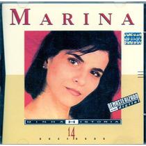 Cd Marina Lima - Minha História 14 Sucessos - Novo***