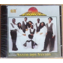 Cd Altos Louvores Santo Dos Santos Voz E Play Back Lacrado