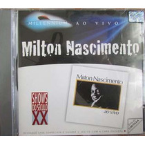 Cd De Musica Milton Nascimento Ao Vivo Millennium Orig. Usad