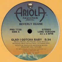 Beverly Duane Glad I Gotcha Baby 12 Mix Importado 1978 Disco