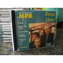 Cd Os Grandes Da Mpb - Boca Livre ( Igual Novo )
