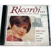 Cd Rita Pavone Ricordi Coletânea 1ª Ed. 1999 Raro Lacrado