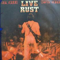 Lp Neil Young Live Rust Crazy Rorse Vinil Raro Duplo