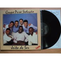 Grupo Pura Sedução- Lp Jeito De Ser- 1992- Encarte- Zerado!