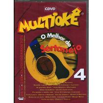 Dvd Multiokê - O Melhor Do Sertanejo 4 - Novo***