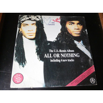 Lp Milli Vanilli, The U.s - Remix Album All Or Nothing, 1989
