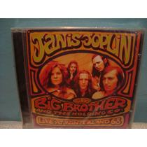 Janis Joplin E Big Brother... - Live At... - Cd Nacional
