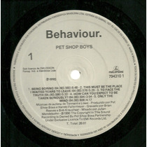 Pet Shop Boys - Behaviour (lp Nacional)