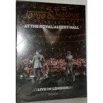 Dvd+cd Jorge & Mateus - At Royal Albert Hall Live In London