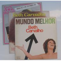Lote Com 2 Lps Vinil Beth Carvalho E 1 Lp Maysa Elis Regina