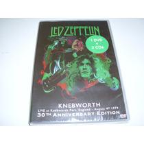 Box Com Dvd E 02 Cds Led Zeppelin - Live At Knebworth 1979