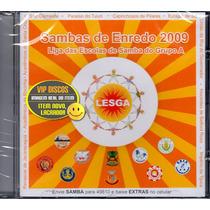 Cd Sambas De Enredo 2009 Grupo A Lesga - Novo Lacrado Raro