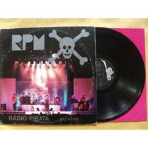 Rpm- Lp Rádio Pirata Ao Vivo- 1986- Original- Encarte!