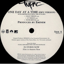 Tupac One Day At A Time 12 Importado 2003 Hip Hop Lacrado