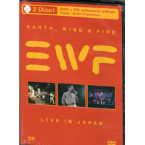 Dvd + Cd Earth,wind E Fire - Live In Japan - Novo***