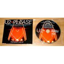 U2 Please Live Cd Single Importado Edição Capa Acrílica Fina