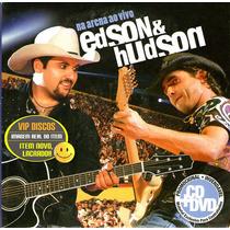 Edson E Hudson Cd + Dvd Na Arena Ao Vivo Promocional - Raro