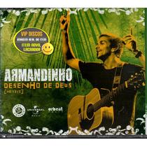 Armandinho Cd Single Desenho De Deus Ao Vivo 2 Versões -raro