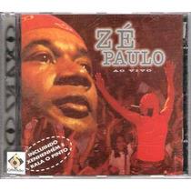 Cd Zé Paulo - Ao Vivo - Frete Grátis
