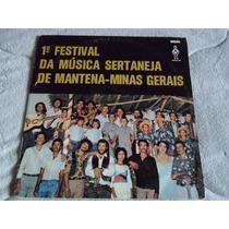 Lp 1º Festival Da Música Sertaneja De Mantena-minas Gerais