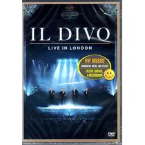 Dvd Il Divo Live In London - Novo Lacrado Raro