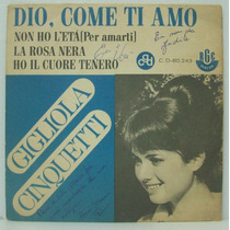 Compacto Vinil Gigliola Cinquetti - Dio, Come Ti Amo - 1967