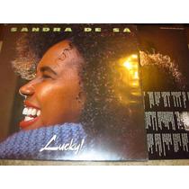 Lp Sandra Sá - Lucky (1991) C/ Lobão Tim Maia + Encarte
