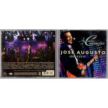 Cd - José Augusto - Aguenta Coração - Ao Vivo (2008) Raro