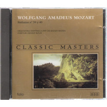 Cd Mozart Sinfonias Nº 39 Y 40 - Classic Masters