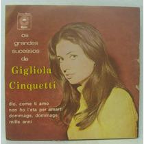 Compacto Vinil Gigliola Cinquetti - Os Grandes Sucessos -