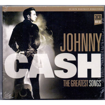 Box Cd Johnny Cash - The Greatest Songs - Novo***