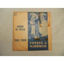Torres E Florêncio 1968 Guerra De Poesia - Compacto Ep