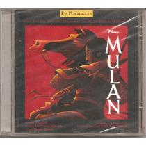 Cd - Mulan - Disney - Em Português - Sandy & Jr - Lacrado