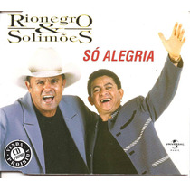 Cd Single - Rionegro & Solimões - Só Alegria - 2001