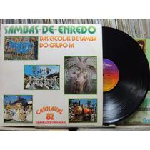 Sambas Enredo Escolas Samba Grupo Carnaval 1982 Lp Encarte